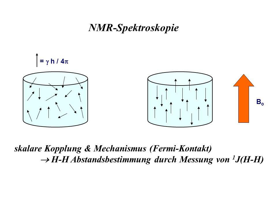 NMR-Spektroskopie skalare Kopplung & Mechanismus (Fermi-Kontakt)