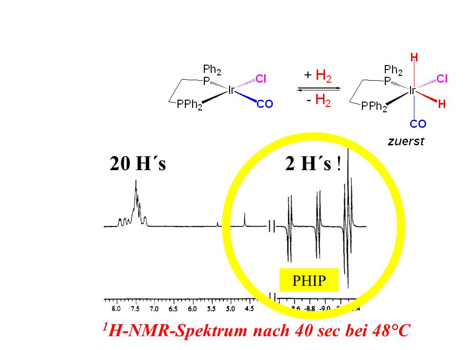 1H-NMR-Spektrum nach 40 sec bei 48°C