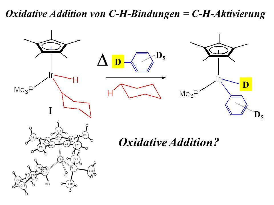 Oxidative Addition von C-H-Bindungen = C-H-Aktivierung