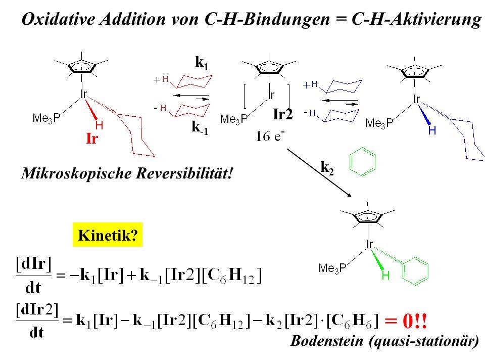 = 0!! Oxidative Addition von C-H-Bindungen = C-H-Aktivierung
