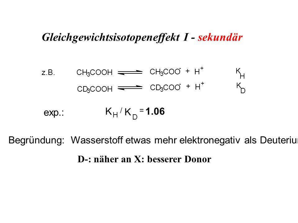 Gleichgewichtsisotopeneffekt I - sekundär