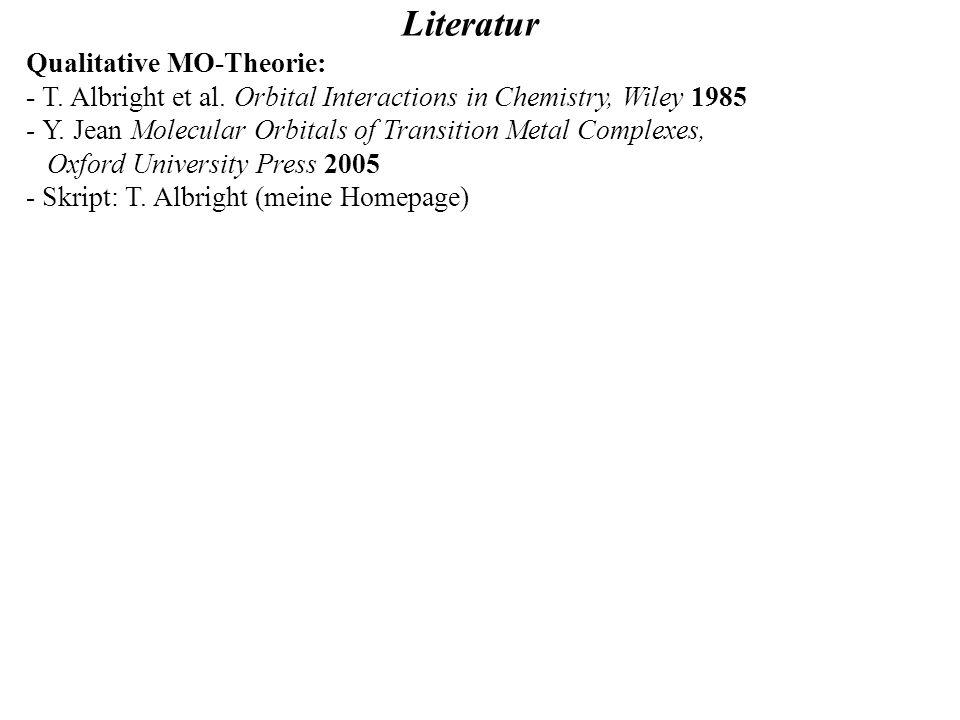 Literatur Qualitative MO-Theorie: