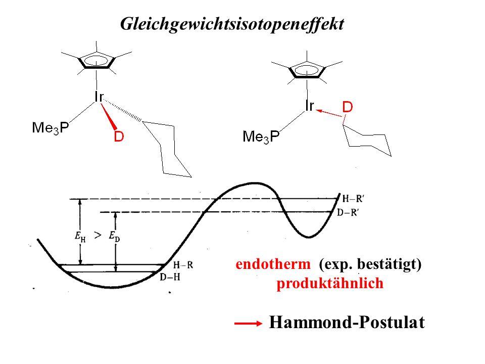 Gleichgewichtsisotopeneffekt endotherm (exp. bestätigt)