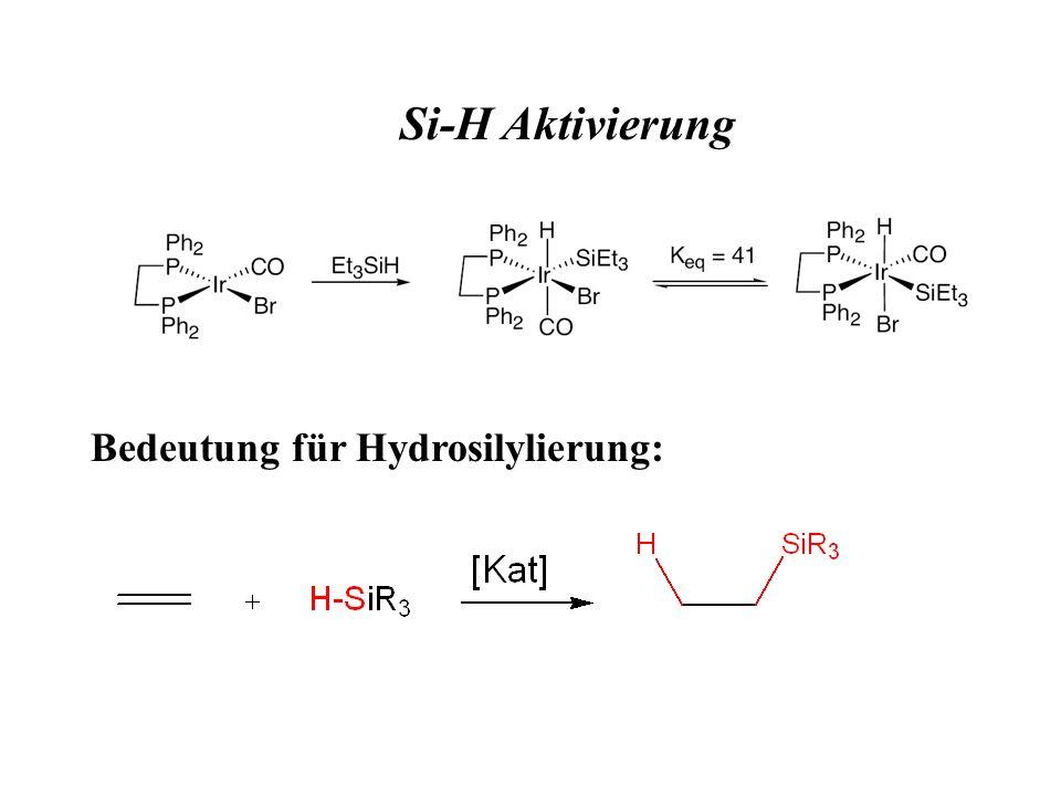 Si-H Aktivierung Bedeutung für Hydrosilylierung: