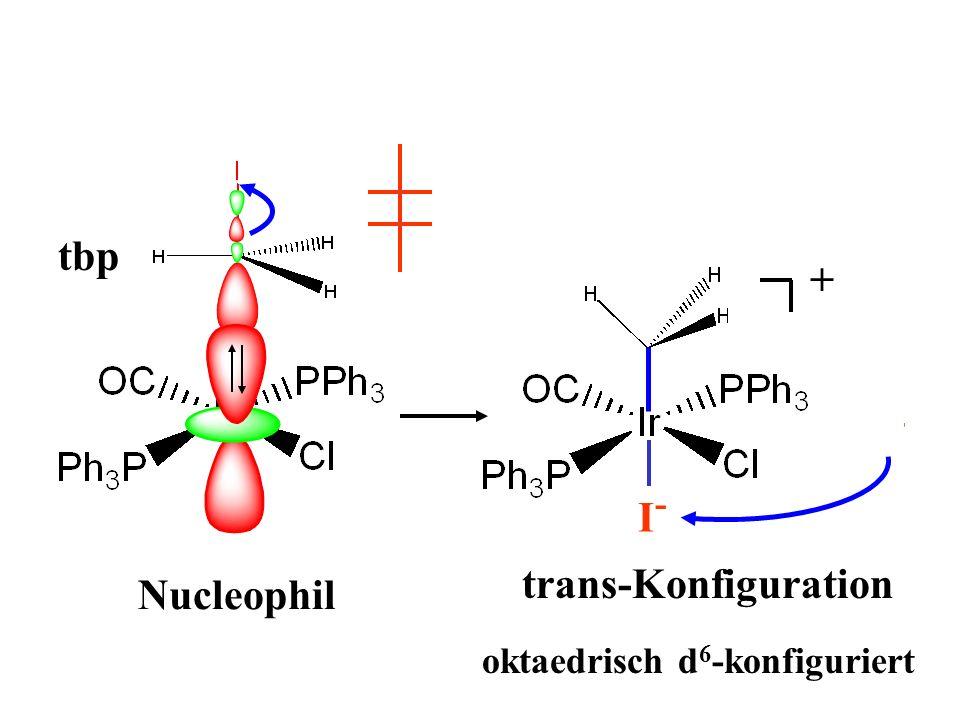 tbp + + I- I- trans-Konfiguration Nucleophil