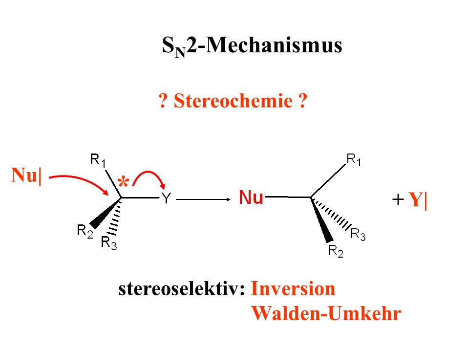 stereoselektiv: Inversion