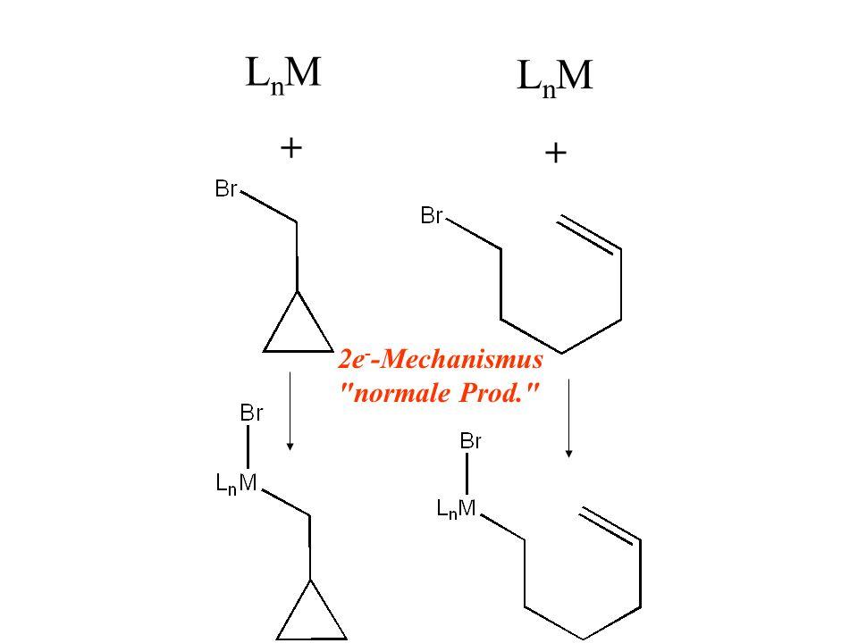LnM LnM + + 2e--Mechanismus normale Prod.