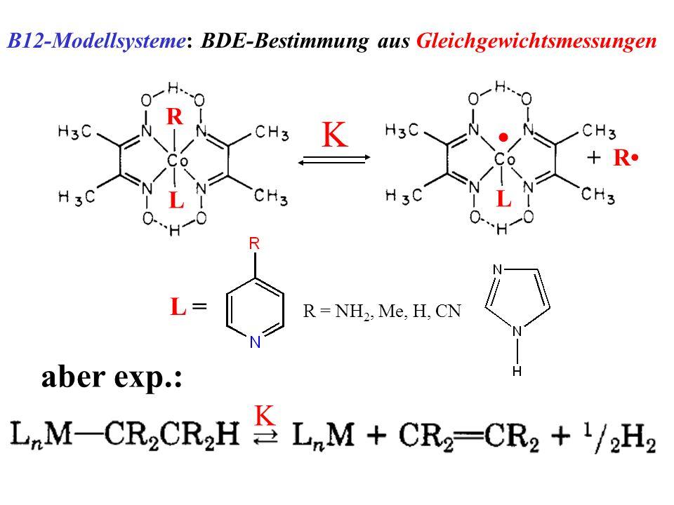 B12-Modellsysteme: BDE-Bestimmung aus Gleichgewichtsmessungen