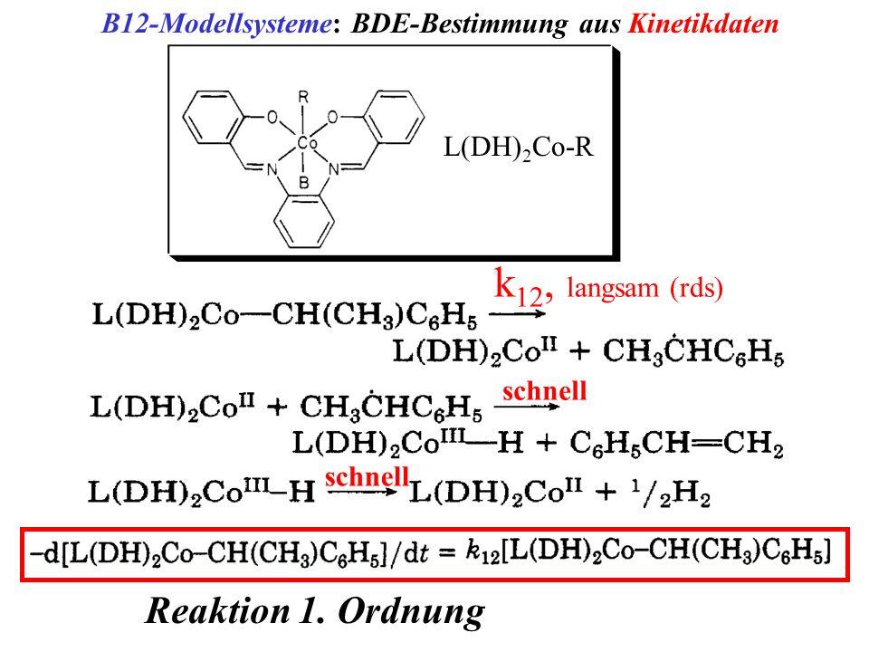 k12, langsam (rds) Reaktion 1. Ordnung