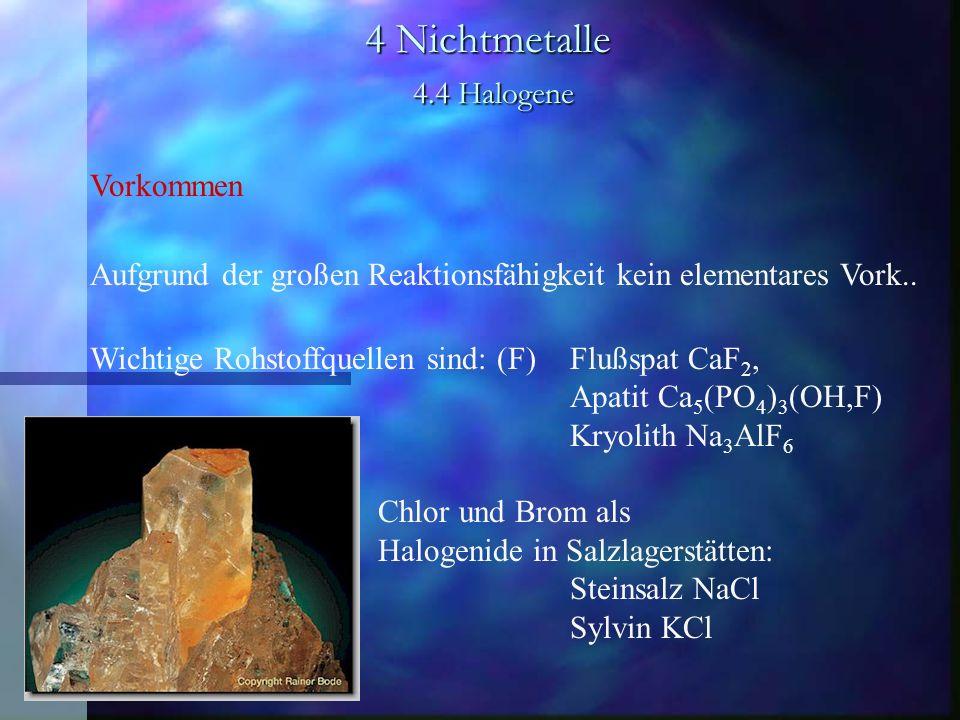 4 Nichtmetalle 4.4 Halogene