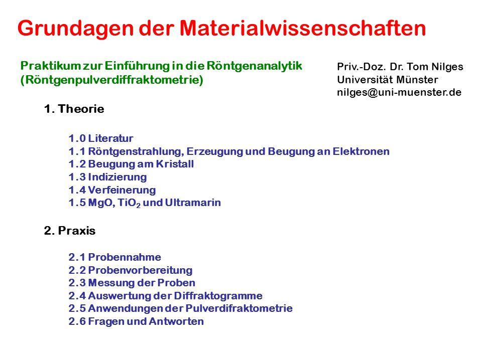 Grundagen der Materialwissenschaften