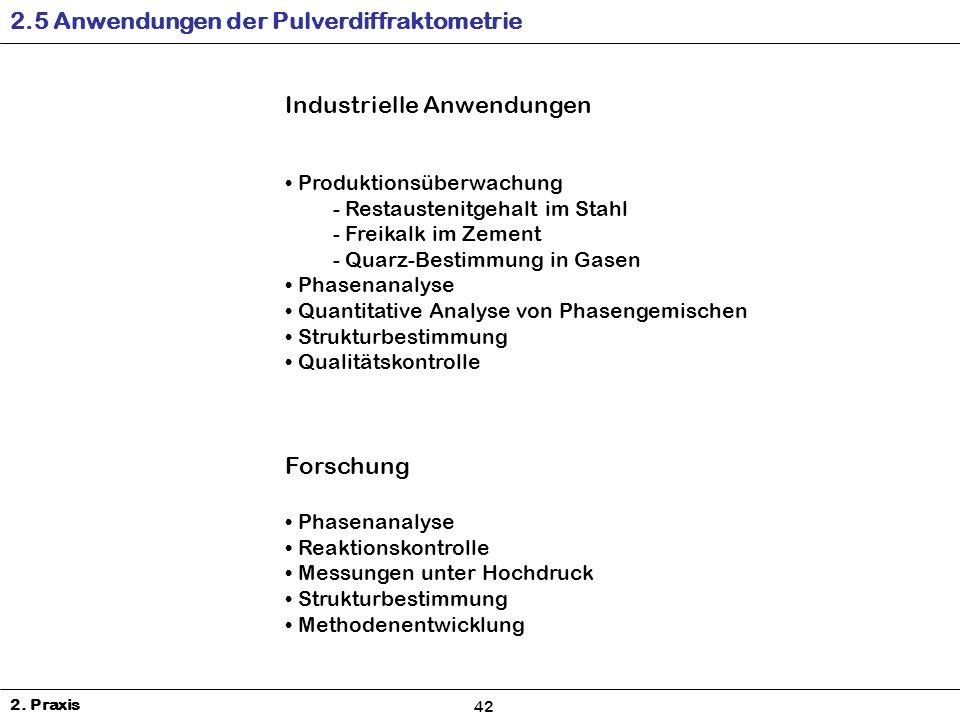 2.5 Anwendungen der Pulverdiffraktometrie