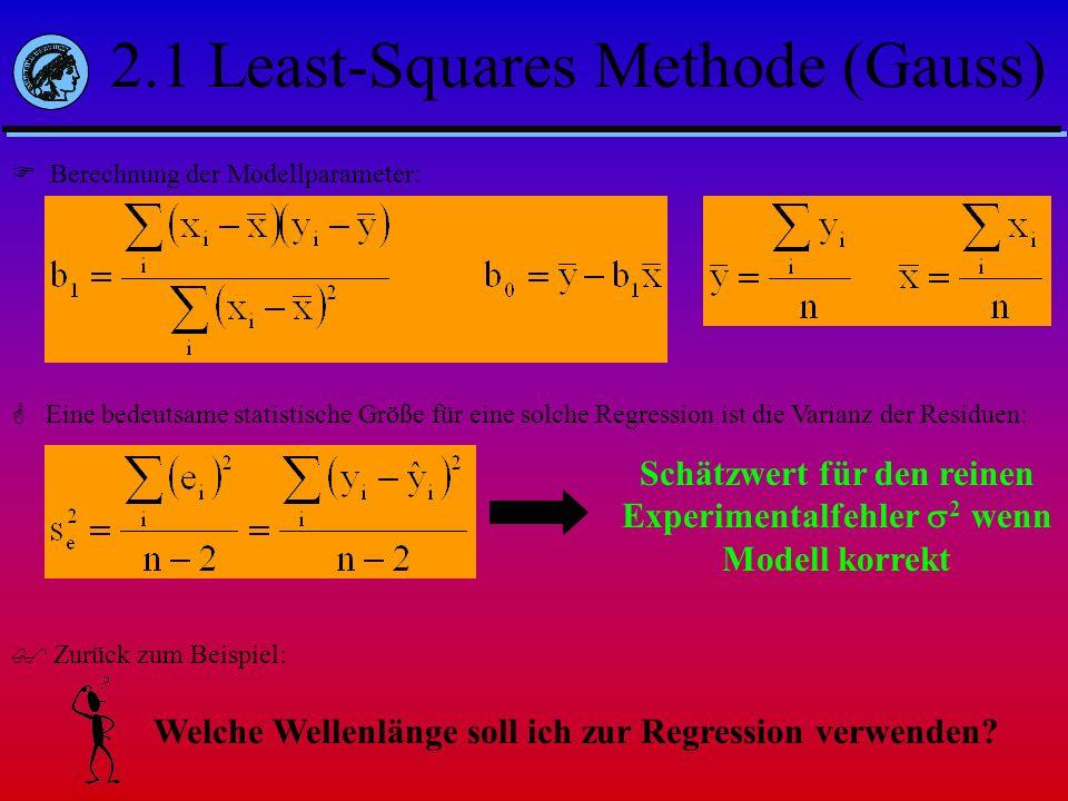 Schätzwert für den reinen Experimentalfehler 2 wenn Modell korrekt