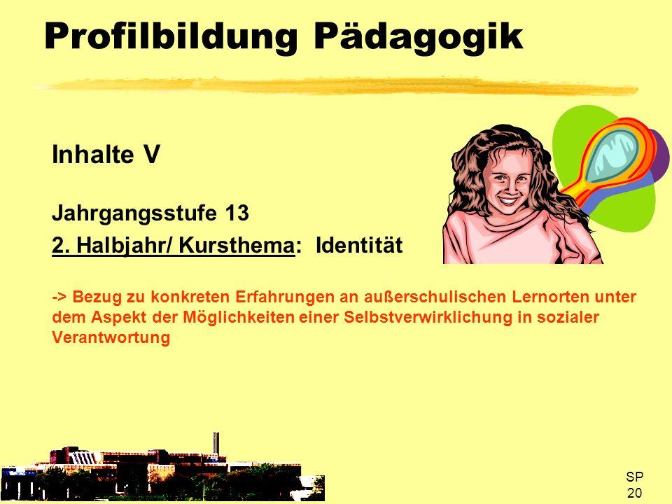 Profilbildung Pädagogik