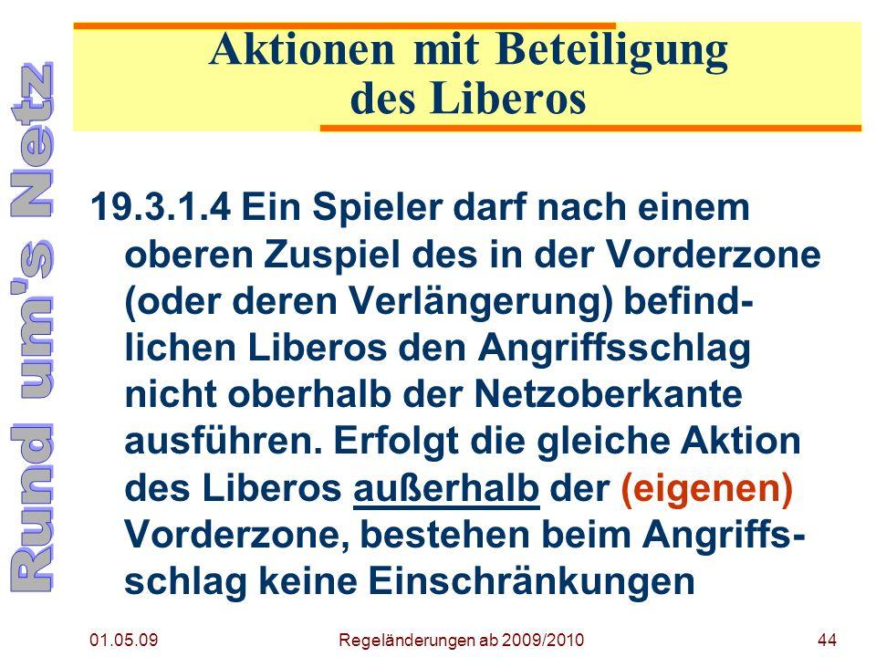 Aktionen mit Beteiligung des Liberos