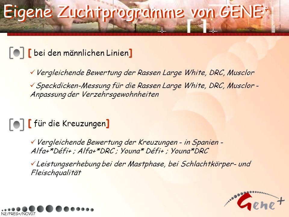 Eigene Zuchtprogramme von GENE+ Eigene Zuchtprogramme von GENE+