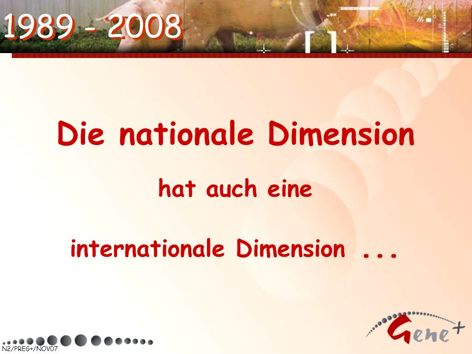 Die nationale Dimension hat auch eine internationale Dimension ...