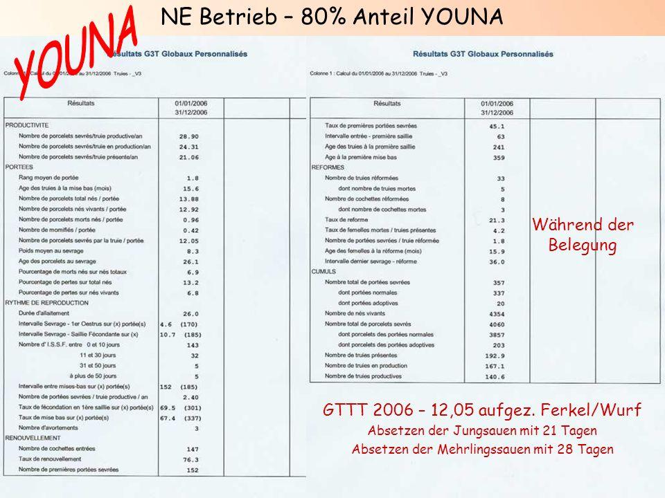 YOUNA NE Betrieb – 80% Anteil YOUNA Während der Belegung
