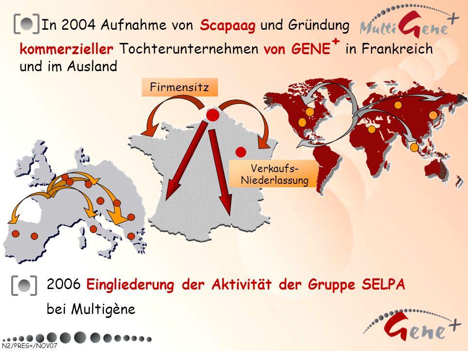 In 2004 Aufnahme von Scapaag und Gründung