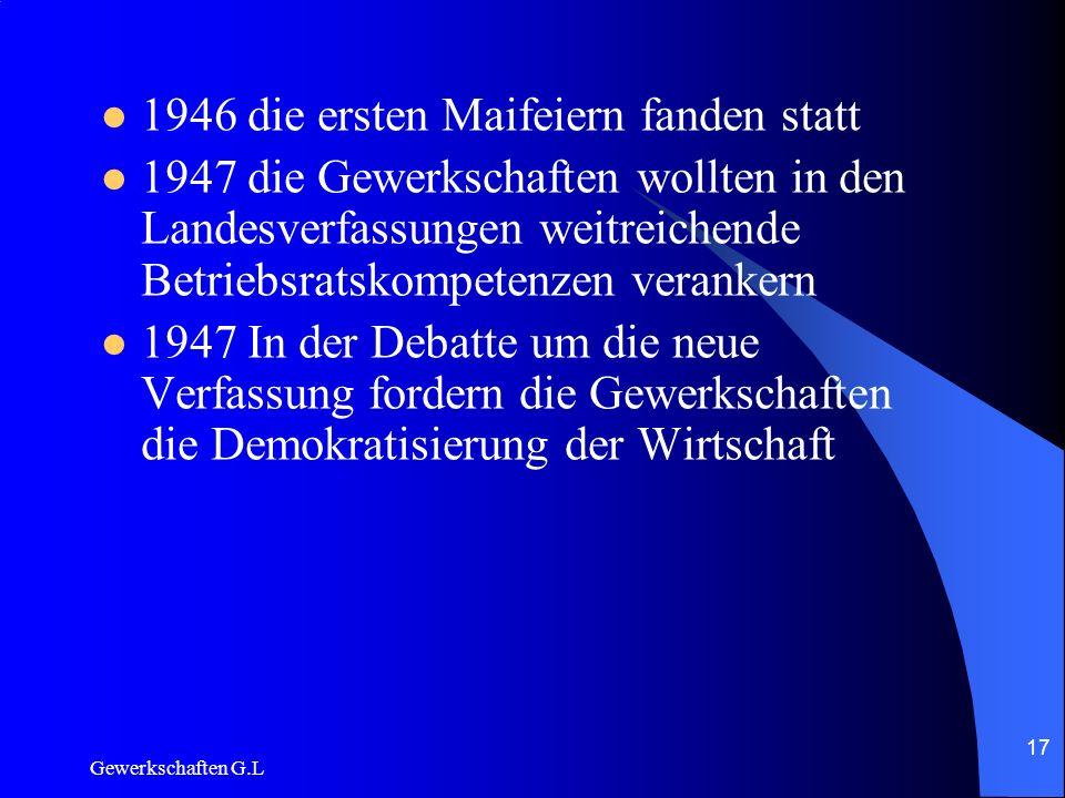 1946 die ersten Maifeiern fanden statt