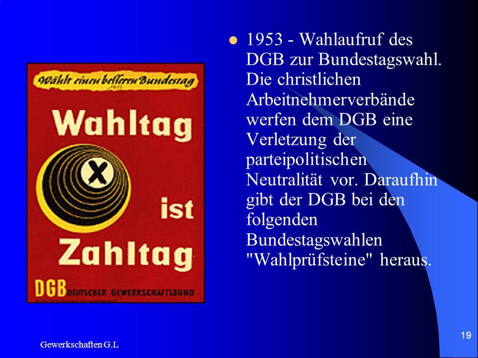 1953 - Wahlaufruf des DGB zur Bundestagswahl