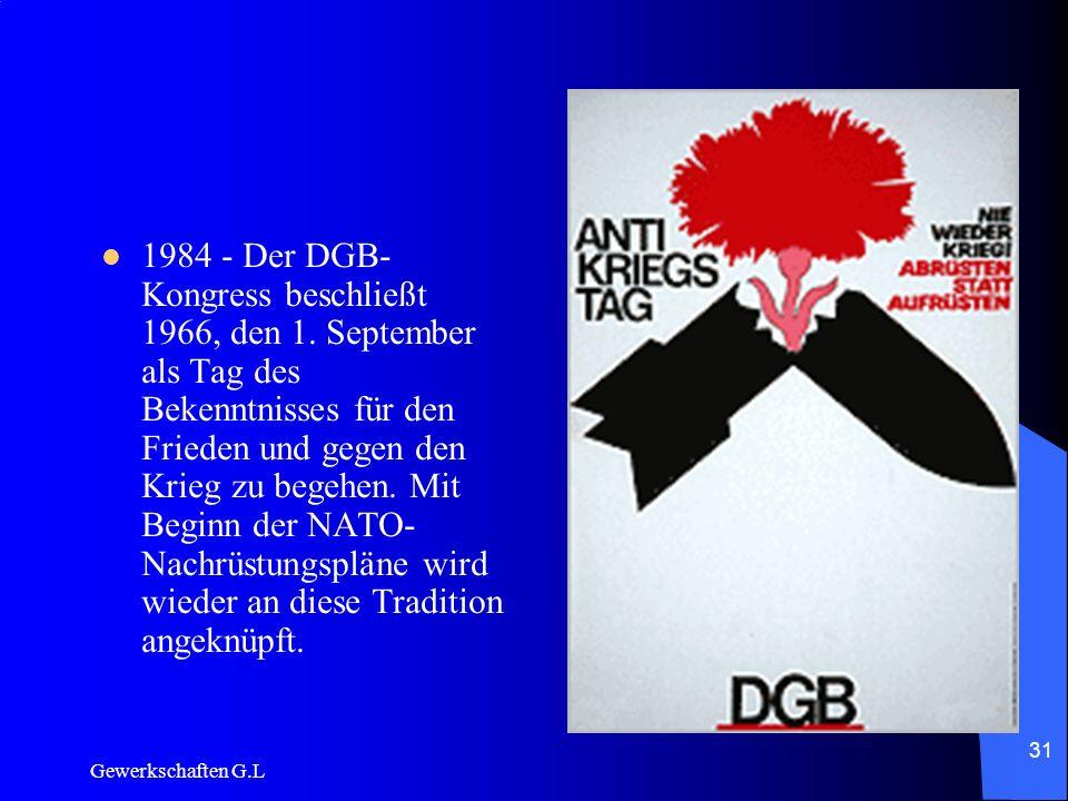 1984 - Der DGB-Kongress beschließt 1966, den 1