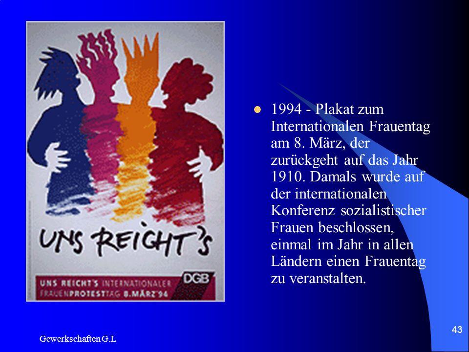 1994 - Plakat zum Internationalen Frauentag am 8