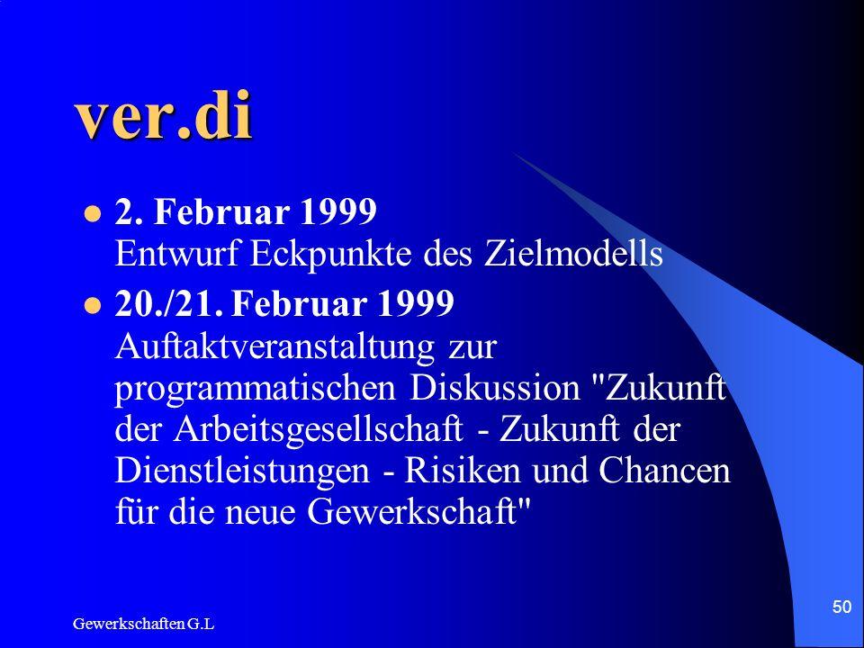 ver.di 2. Februar 1999 Entwurf Eckpunkte des Zielmodells