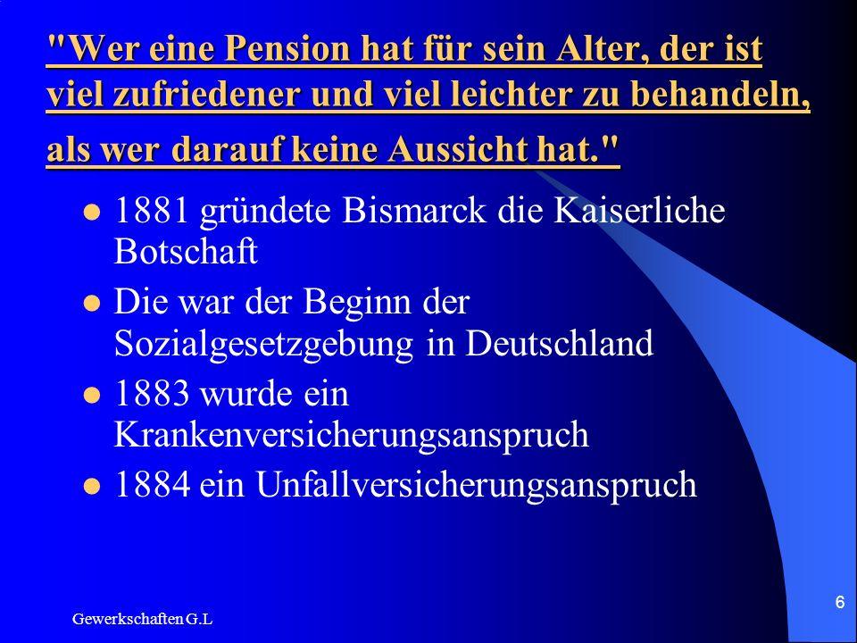 1881 gründete Bismarck die Kaiserliche Botschaft