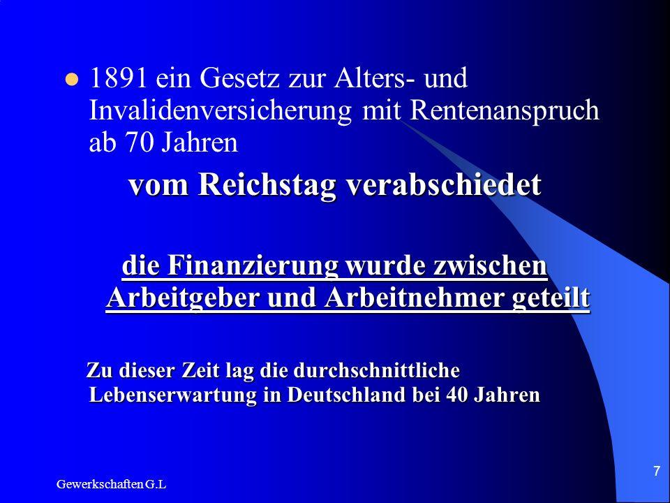 vom Reichstag verabschiedet
