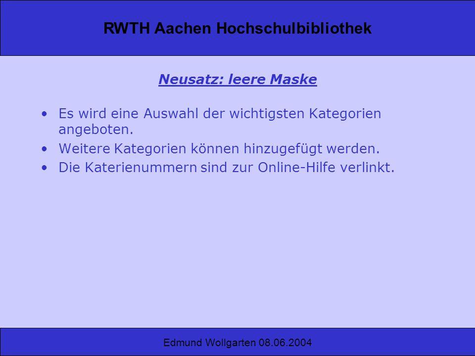 RWTH Aachen Hochschulbibliothek