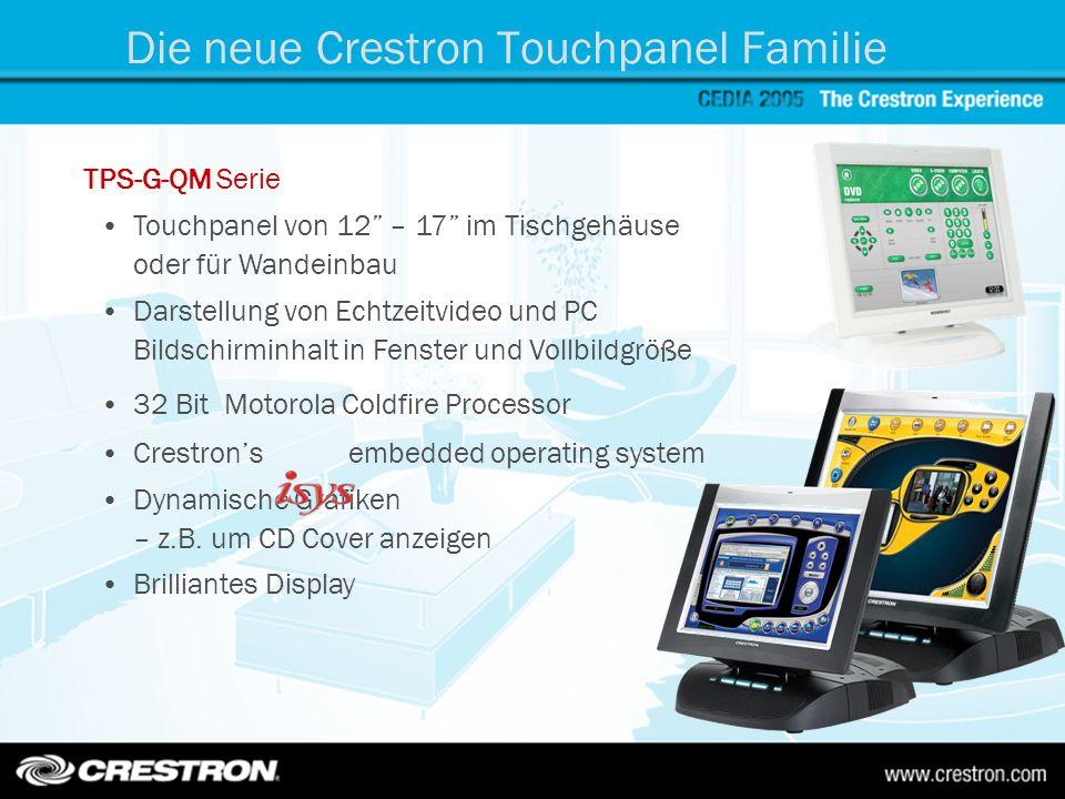 Die neue Crestron Touchpanel Familie