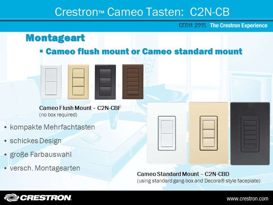 Crestron™ Cameo Tasten: C2N-CB