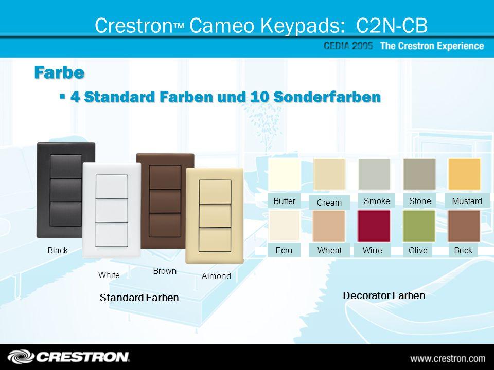 Crestron™ Cameo Keypads: C2N-CB