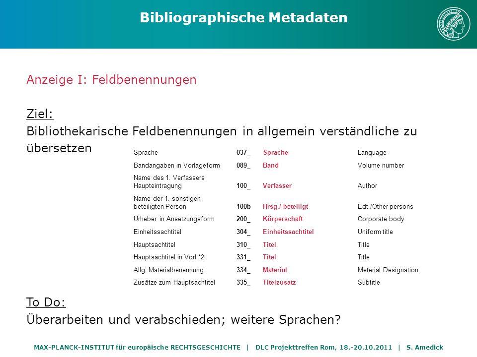 Bibliographische Metadaten