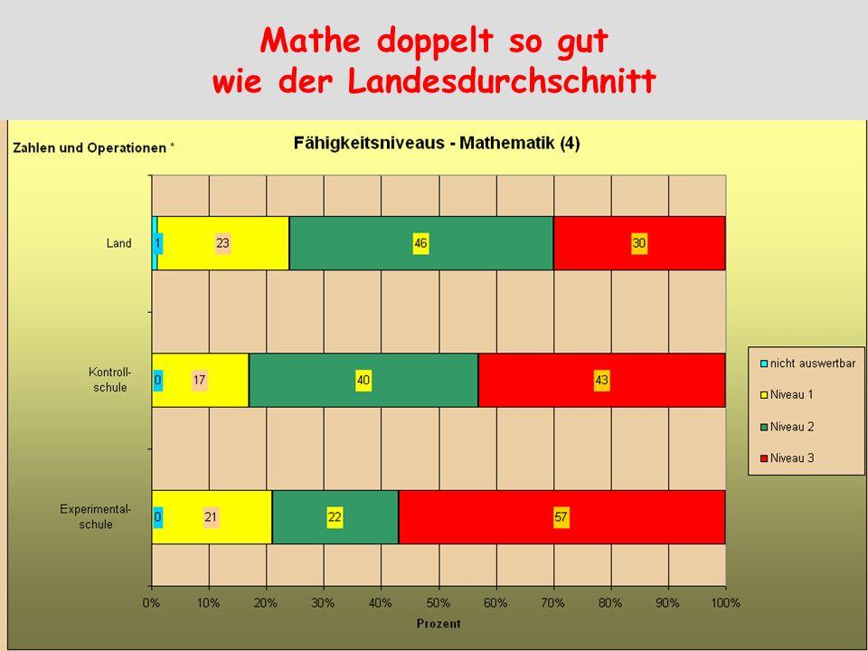 Mathe doppelt so gut wie der Landesdurchschnitt
