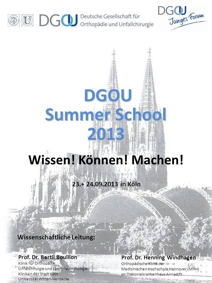 Summer School 2013 Wissen! Können! Machen! DGOU