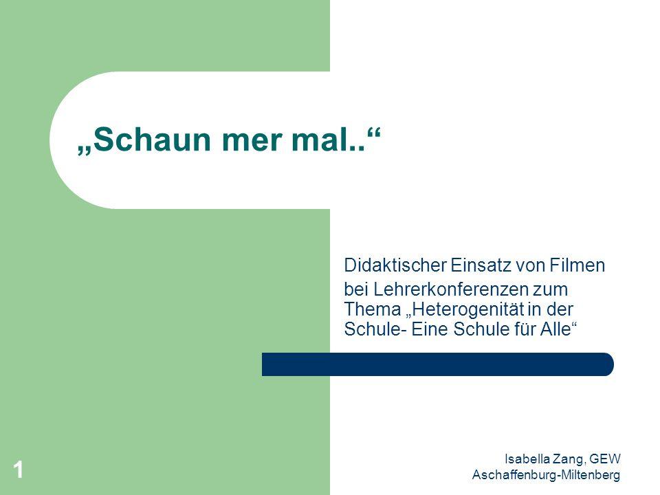 """""""Schaun mer mal.. Didaktischer Einsatz von Filmen"""