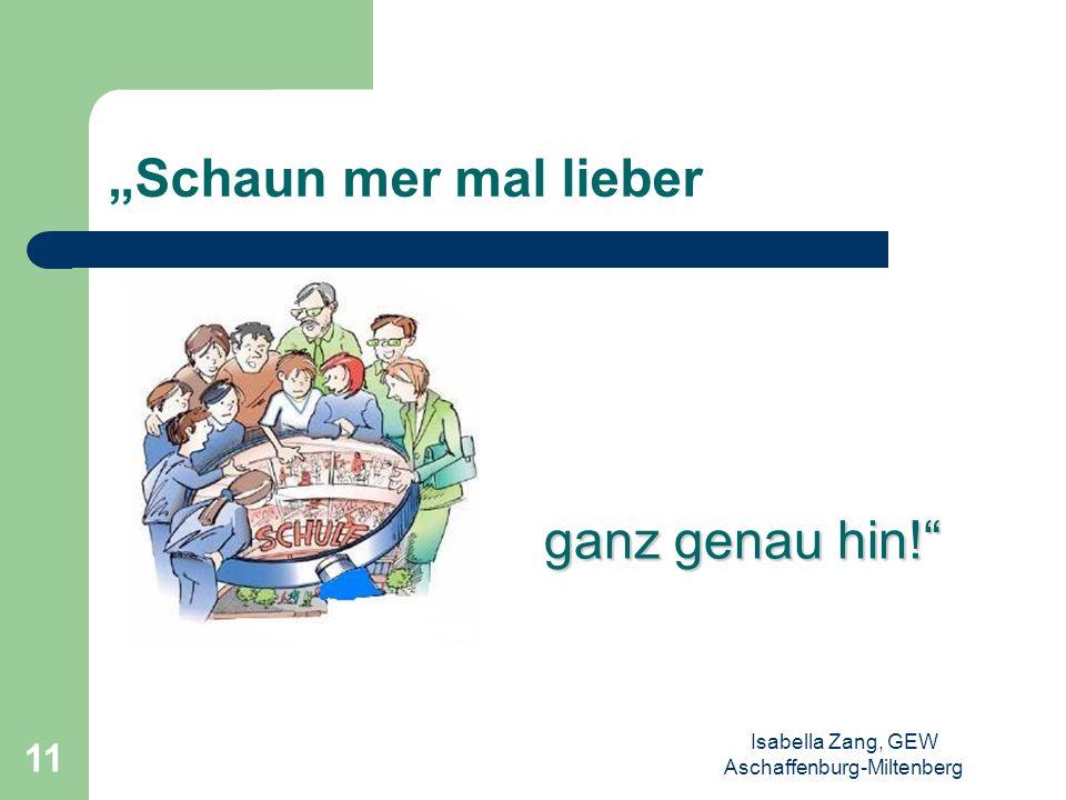 Isabella Zang, GEW Aschaffenburg-Miltenberg