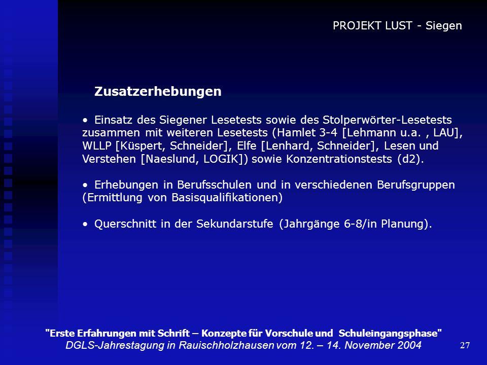 DGLS-Jahrestagung in Rauischholzhausen vom 12. – 14. November 2004