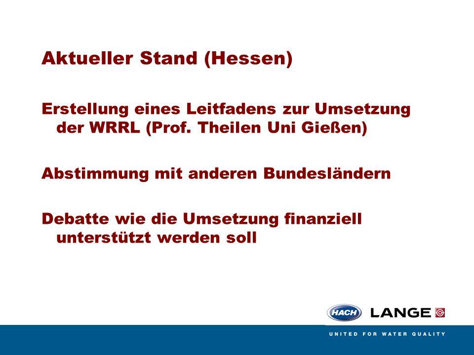 Aktueller Stand (Hessen)