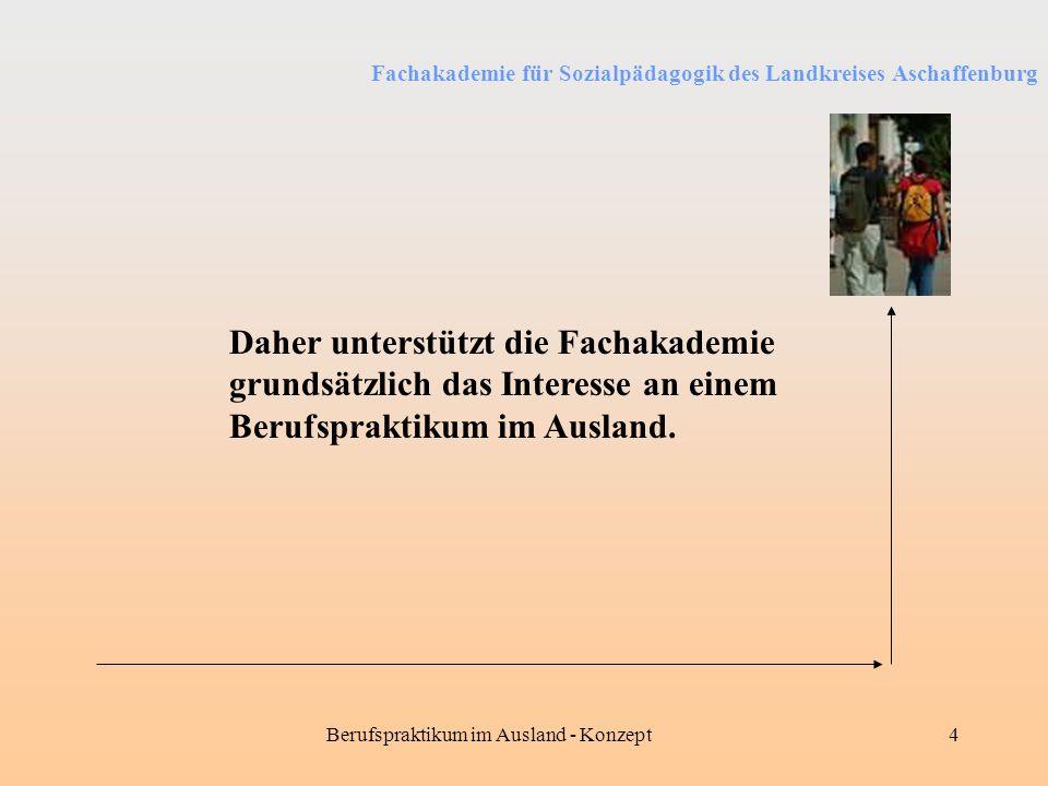 Berufspraktikum im Ausland - Konzept