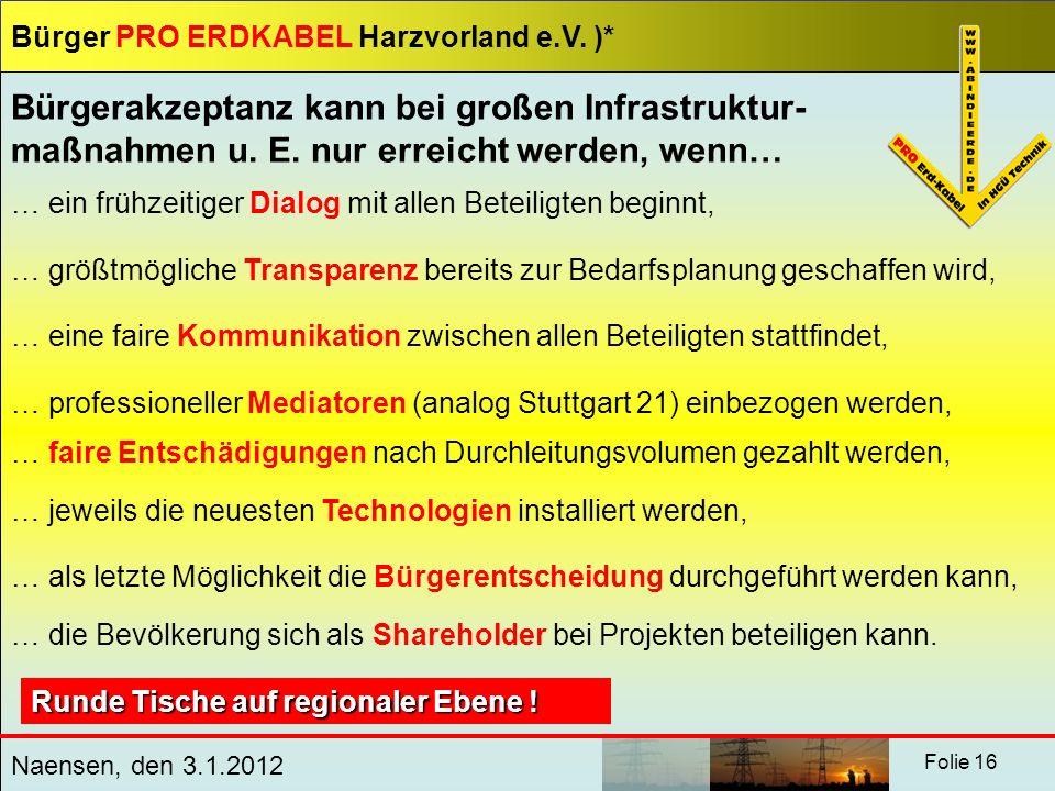 Bürgerakzeptanz kann bei großen Infrastruktur-maßnahmen u. E