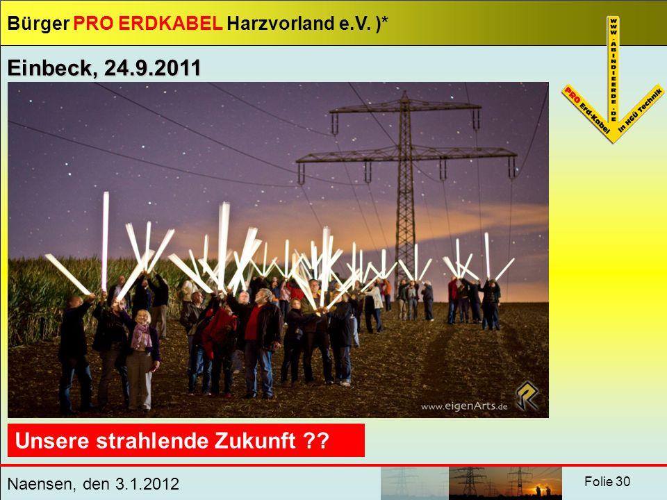 Einbeck, 24.9.2011 Unsere strahlende Zukunft