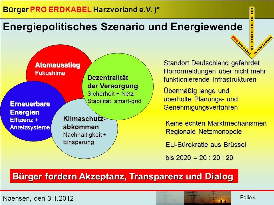 Energiepolitisches Szenario und Energiewende