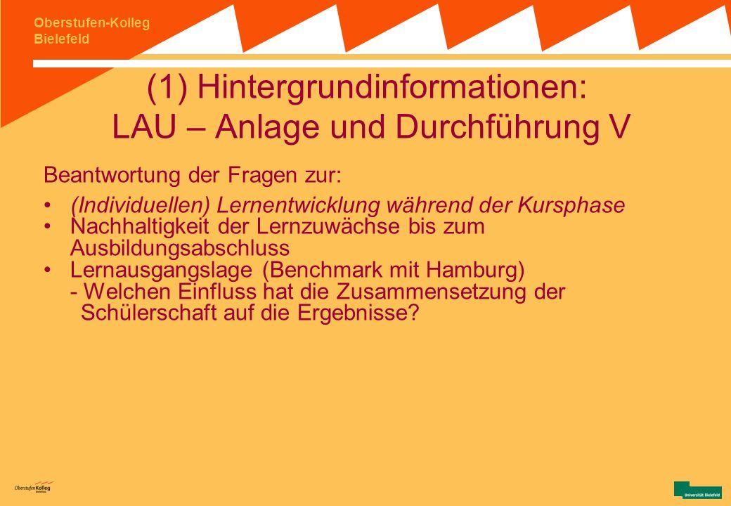 (1) Hintergrundinformationen: LAU – Anlage und Durchführung V