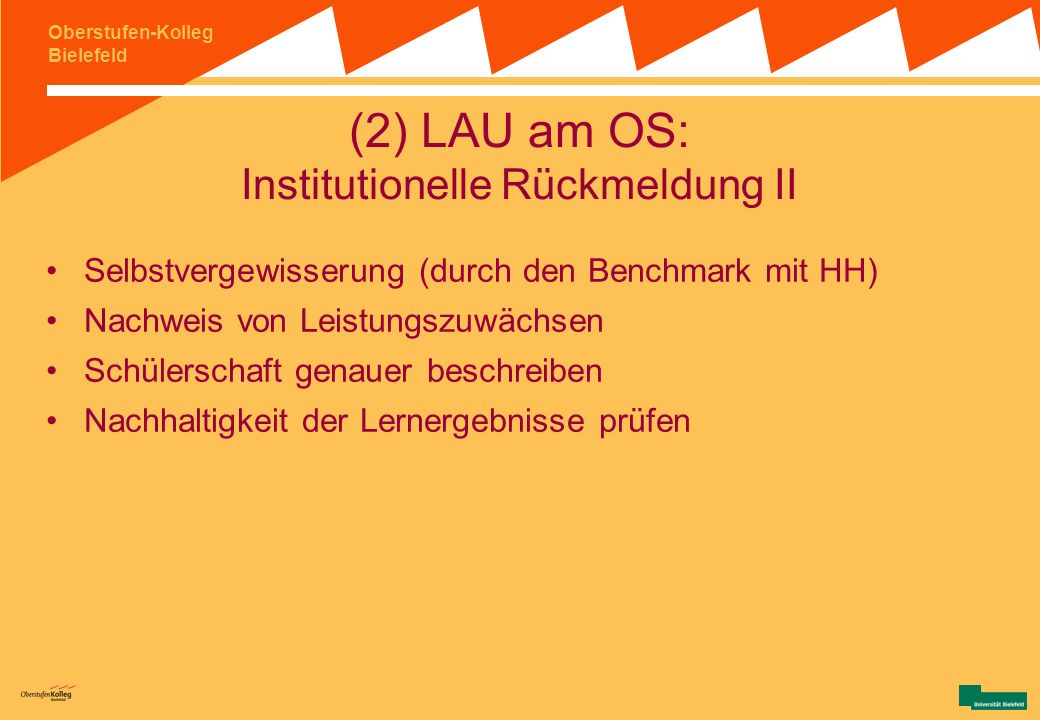 (2) LAU am OS: Institutionelle Rückmeldung II