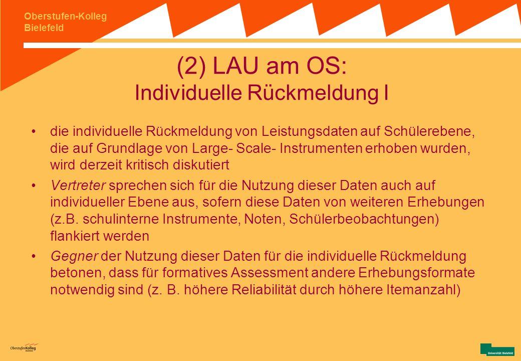 (2) LAU am OS: Individuelle Rückmeldung I