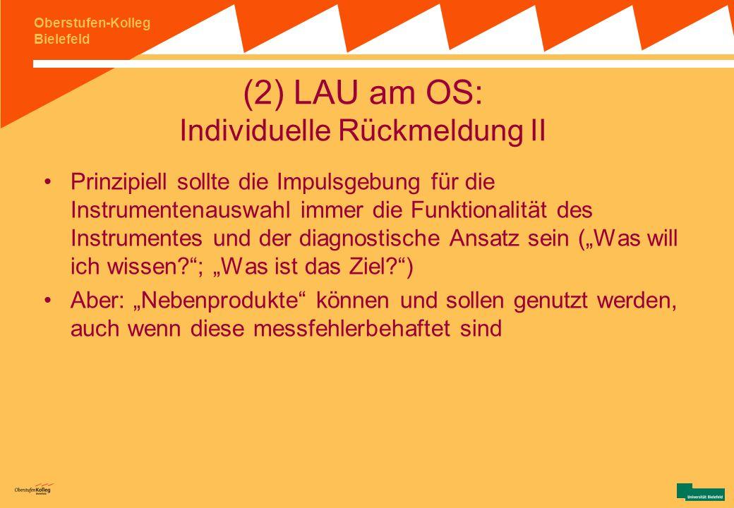 (2) LAU am OS: Individuelle Rückmeldung II