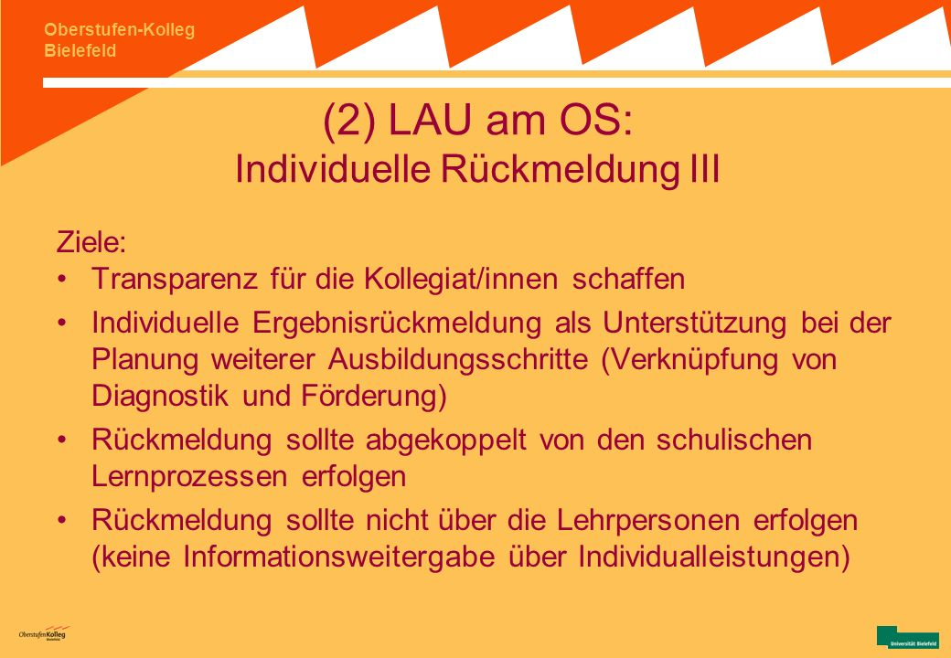 (2) LAU am OS: Individuelle Rückmeldung III